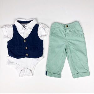 0/3 Month Nannette Baby Boy 2 Piece Outfit